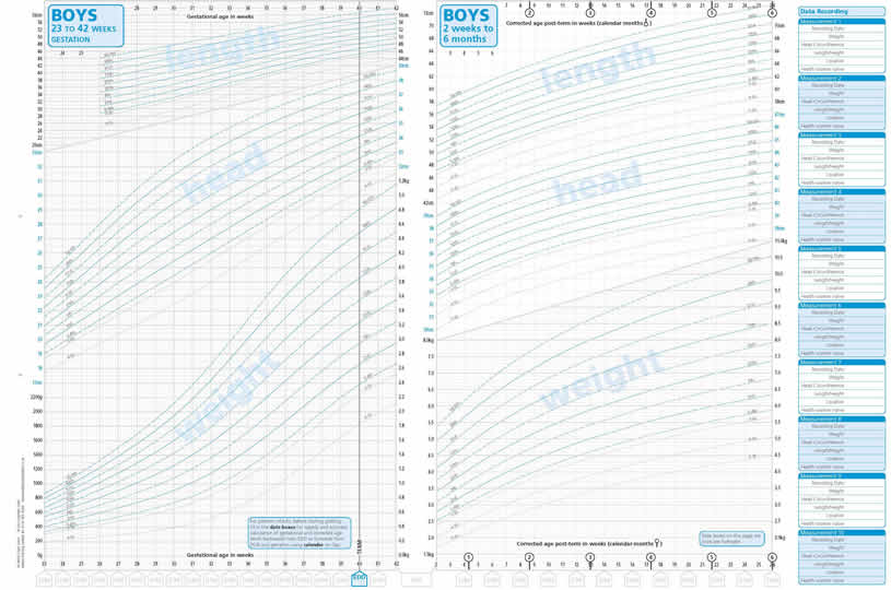 A UkWho Nicm NeoNatal Infant Close Monitoring Growth Charts