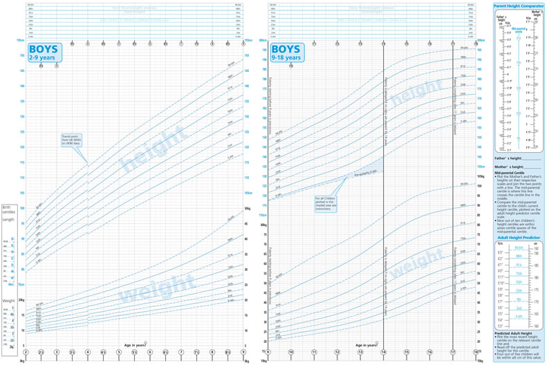 Uk A4 2 18 Growth Charts