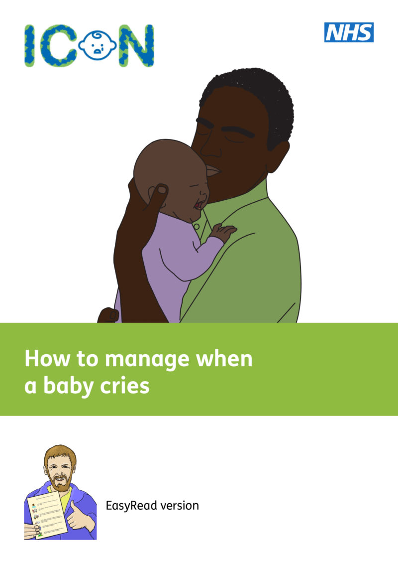ICON - How to manage when a baby cries - Easy Read Version